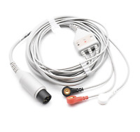 Invivo ECG Cable 6 Pin 3 Leads Snap AHA - Same Day Shipping