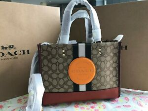 COACH DEMPSEY CARRYALL IN SIGNATURE JACQUARD PATCH 4113 IM/KHAKI SUNBEAM MULTI