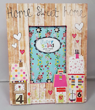 "Colourful Vintage Home Sweet Home Picture Photo Frame 4""x6"" Picture Gift Present"
