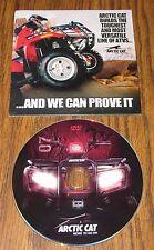 "Arctic Cat ATV All Terrain Four Wheeler 2007 DVD ""Dealer Issue Promo"