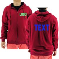 Custom Personalized Zip Hoodie With Your Text | Logo | Photo | Team | Football