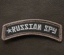 RUSSIAN SPY ARMY TAB ROCKER TACTICAL AIRSOFT SWAT VELCRO® BRAND FASTENER PATCH