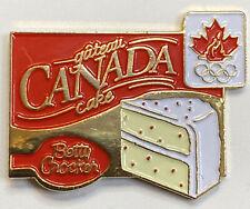 Vintage Betty Crocker Cake Olympic Canada pin