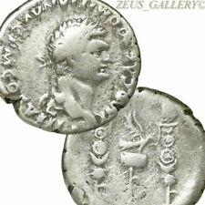 DOMITIAN Silver Cistophorus Military Eagle Standards Ancient Roman tetradrachm