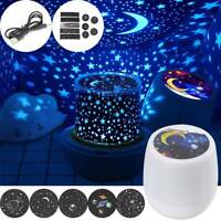 Rotating LED Night Light Projector Star Moon Sky Baby Kids Mood Lamp Gift Magic