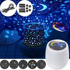Rotating LED Night Light Projector Star Moon Sky Baby Kids Mood Lamp Gift Magic