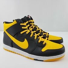 Nike Dunk CMFT High SB Mens Sz 15 Skateboarding Shoes Black Yellow White NEW