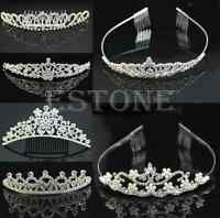 Brand New Wedding Bridal Crystal Rhinestone Pearl Tiara Bridesmaid Crown Tiaras