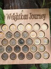 Gain £1 for 1lb weight Loss chart motivation plaque fitness gift diet Save £30