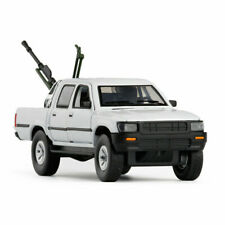1:32 Toyota Hilux Pickup Truck w/ Anti-tank Gun Model Car Diecast Toy Gift White