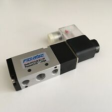 UK STOCK 4V210-08 SOLENOID/SPRING VALVE 24vdc COIL 5/2 1/4 BSP IN/OUT