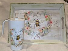 New listing Bee Pitcher And Tray The Prairie Rachel Ashwell Life is Sweet New