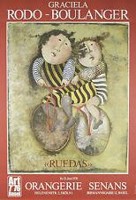 """""""Ruedas"""" by Graciela Rodo Boulanger Lithograph 34""""x23 1/2"""""""