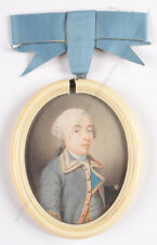 "Jeremiah Meyer-Attrib.""Portrait of Mr. Lessing"", high quality miniature, ca.1775"