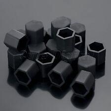 20x 19mm Black Car Wheel Nut  Lug Silicone Hub Covers Screw Dust Protect Caps