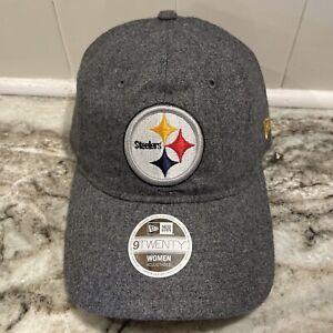 Pittsburgh Steelers New Era 9Twenty NFL Football Hat Women's Gray Adjustable Cap