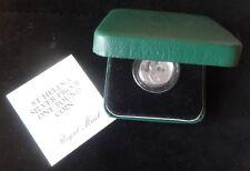 1984 SILVER PROOF PIEDFORT ST HELENA £1 COIN BOX + COA SOOTY TERN WIDEAWAKE BIRD
