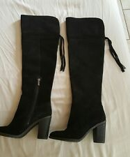 franco sarto black over-the-knee boots size 5 women's