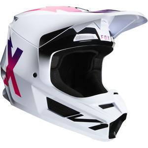 Fox V1 Werd Adult Off Road MX Motocross Helmet - White