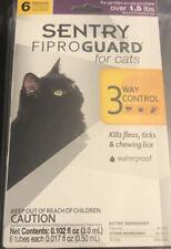 6 Applications Flea Tick Lice Treatment Drops Topical Medicine for Cats Kittens