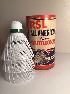 Vintage RSL All American Shuttlecocks Badminton Birdies