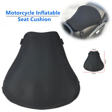 1*Riding Motorcycle Seat Non-slip Inflatable Cushion Cover Mesh Cloth Air Pad PU