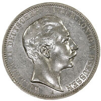 Raw 1910 Prussia 3 Mark Prussian Silver Coin