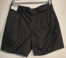 NEW Roundtree & Yorke Blue Pleated Classic Fit Shorts 38 Mens Soft Touch Twill