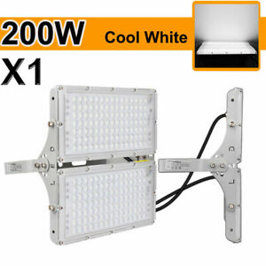 4Pcs 200W LED Flood Light Cool White Spotlight Garden Shed Outdoor Lighting