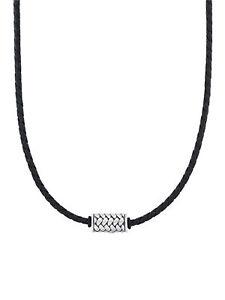 s.Oliver Herren Collier Edelstahl Silber schwarz 50 cm 2031546