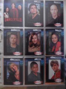 trading cards / set complet smallville série 1 / tbe / 90 cartes de 2002