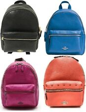 Coach F28995,F38263,F29795,F45070 Mini Charlie Backpack In Pebble Leather Black