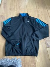 Adidas Tracksuit Top In Black And Blue - Size M