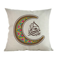 1X(45x45Cm Eid Mubarak Cushion Cover Ramadan Mubarak Decoration Home Islami L3D8
