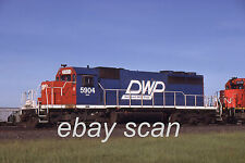 Original Slide Very Nice Duluth Winnipeg & Pacific DW&P SD40 5904 Clean Roster