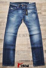 DIESEL SAFADO 0848C L.32 STRAIGHT NEW MAN / MENS JEANS STRETCH STONE BLUE SIZES
