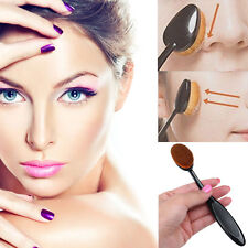 Professional 2pcs Oval Brush Cover Cosmetic Foundation Cream Blush Tool HQ!