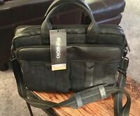 """Solo Bradford- Briefcase 15.6"""" Laptop Computer Bag - Black/Grey. New With Tags."""