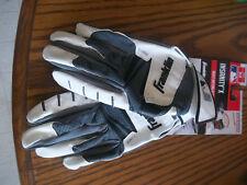 Franklin Insanity X Adult Batting Gloves Baseball New Size Medium White and Gray