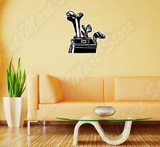 "Golf Bag Play Club Ball Course Grass Wall Sticker Room Interior Decor 22""X22"""