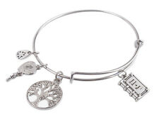1PCS Expandable Wire Bangle Once Upon A Time Book Charm Bracelet