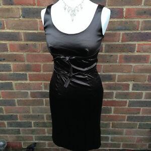 Stunning Satin FABRIZIO LENZI Pencil Wiggle Dress Size 12