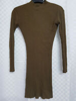 Ladies ATMOSPHERE Long Tunic Top Size 10 Khanki Green Stretch Long Sleeve