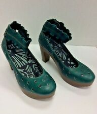 Fly London Green Platform Shoes -Size 41