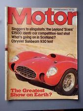 Motor Cars, 1970s Transportation Magazines