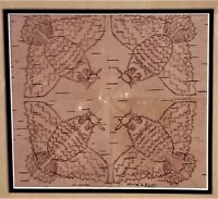 ANGELIQUE MERASTY (Cree 1924-1996) SIGNED Birch-Bark Biting Indigenous Art RARE