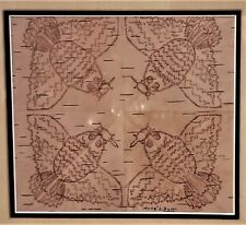 ANGELIQUE MERASTY (Cree 1924-1996) SIGNED Birch-Bark Biting Indigenous Art RARE
