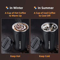 Double Wall Stainless Steel Coffee Thermos Cup Leakproof Insulated Vacuum Mug