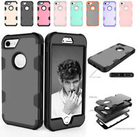 Heavy Duty Hybrid Armor Hard Rubber + Plastic Case Cover For iPhone 6 6s Plus