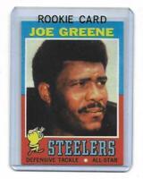 1971 Topps # 245 JOE GREENE ROOKIE RC REPRINT Pittsburgh Steelers Sweet LOOK !